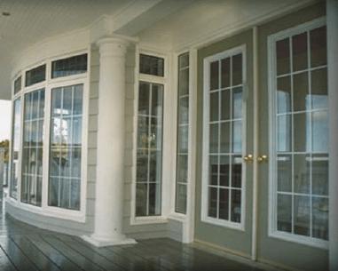Front Door with Windows - Bow Windows