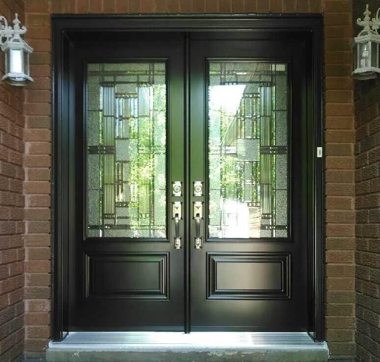 Fiberglass 1 Panel 3QTR Lite Kingston Glass Black. Doors & Fiberglass 1 Panel 3QTR Lite Kingston Glass Black | Kempenfelt ...
