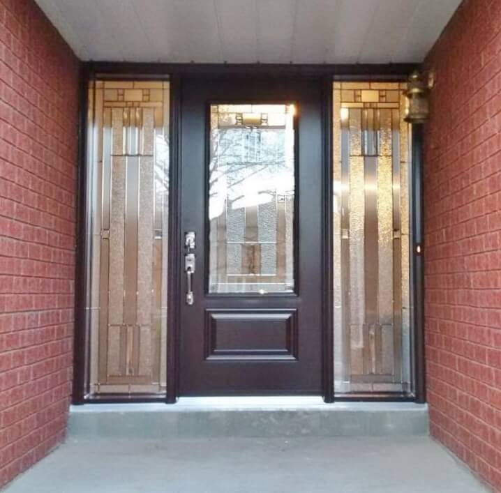 Front Entrance Door with Decorative Glass