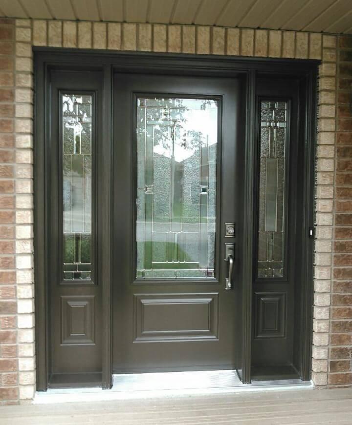 Fiberglass 1 Panel 3qtr Lite Lambton Glass Commercial Brown Or Black
