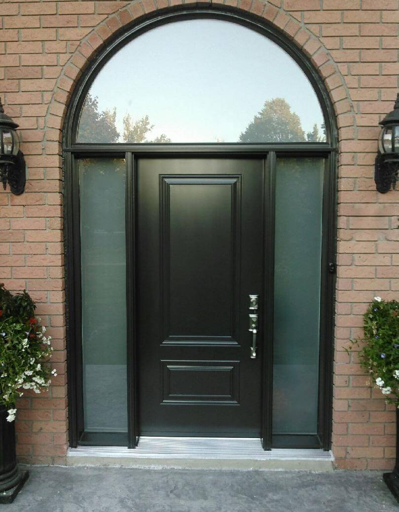 Fiberglass 1 Panel 3qtr Lite Solid Black Double S10