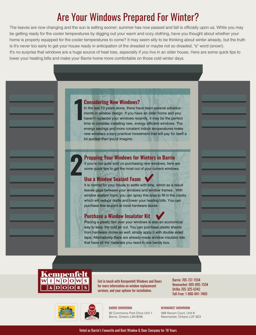 Are Your Windows Ready For Winter Kempenfelt Windows And Doors