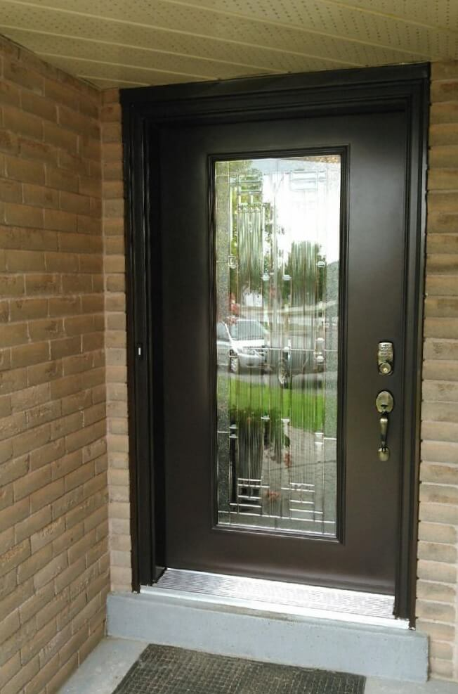 Steel 2064 full york glass commercial brown or black - Commercial steel exterior doors with glass ...
