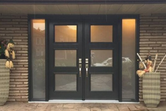 Steel Contemporary Trio Superline Black Frosted Glass