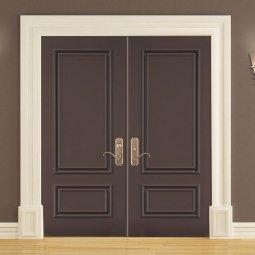 Dark Brown Double Doors