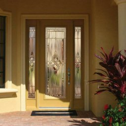 Beige Door with Full Glass Panel