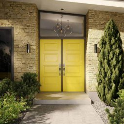 Double Yellow Doors