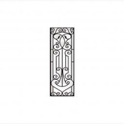 Antonella Decorative Glass Wrought Iron Collection