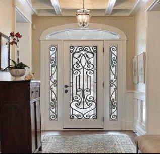 Dorplex Wrought Iron Entry Door Transom Sidelites